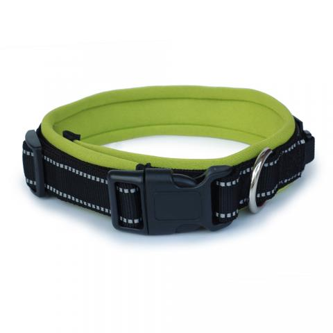 Padded reflective dog collar 反光项圈